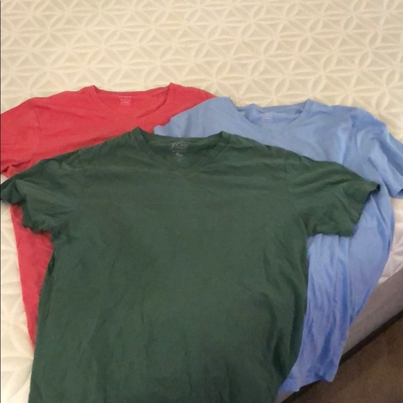 5a890525 J. Crew Shirts | 3 Jcrew Large Tall V Neck T | Poshmark